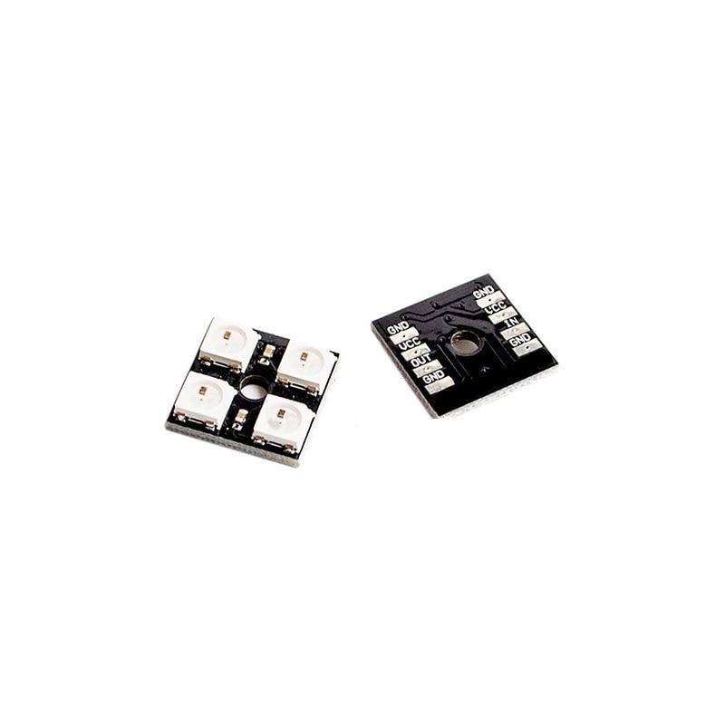 10PCS WS2812B 4 Bit RGB LED Full Color Driver 4-bit Color Lamp Module Development Board