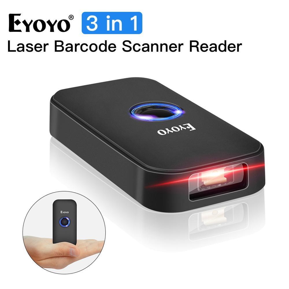 Eyoyo EY-009L 3-в-1 Bluetooth USB Проводная И Беспроводной 1D штрих-кода сканер считывания кода для Mac iOS и Android планшетный компьютер