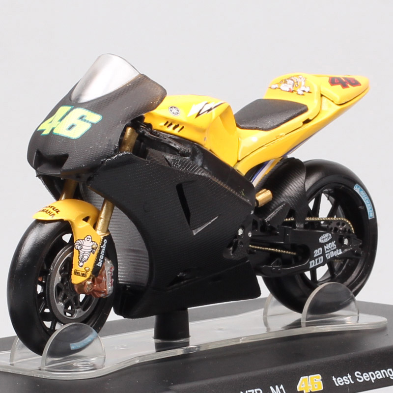LEO 1/18 Scale Mini Yamaha YZR-M1 Test Sepang 2006 Motorcycle Sports Racing GP Diecasts & Toy Vehicles Model 46 Bike Moto Hobby