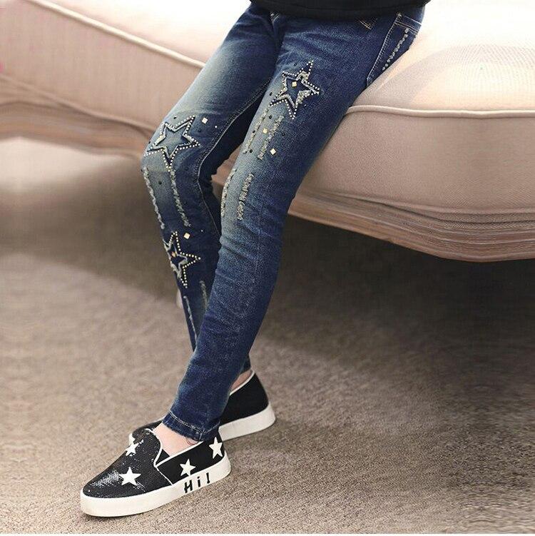 Image 3 - 2020 automne enfants vêtements filles jean décontracté mince denim bébé fille jean pour filles grands enfants jean pantalons longsgirls jeansjeans for girlsbaby girl jeans -