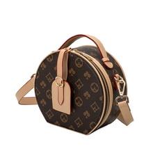 Handbag Totes Messenger-Bags Crossbody-Bag Round Vintage Designers Women Floral PU Hobos
