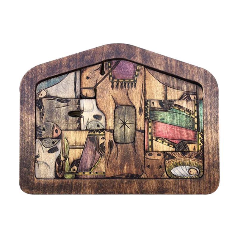 1Set New Wooden Jesus Puzzles Nativity Puzzle With Unique Wood Burned Design Home Decoration Accessories For Kids Adult Figurine