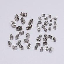 100 шт нержавеющая сталь Бабочка ухо задняя часть 4 5 6 8 мм