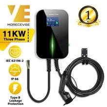 EV Chargeur Station de recharge pour véhicule électrique EVSE Wallbox avec  Cable de Type 2 16A Triphasé IEC 62196 2 pour Audi mercedes benz Smart