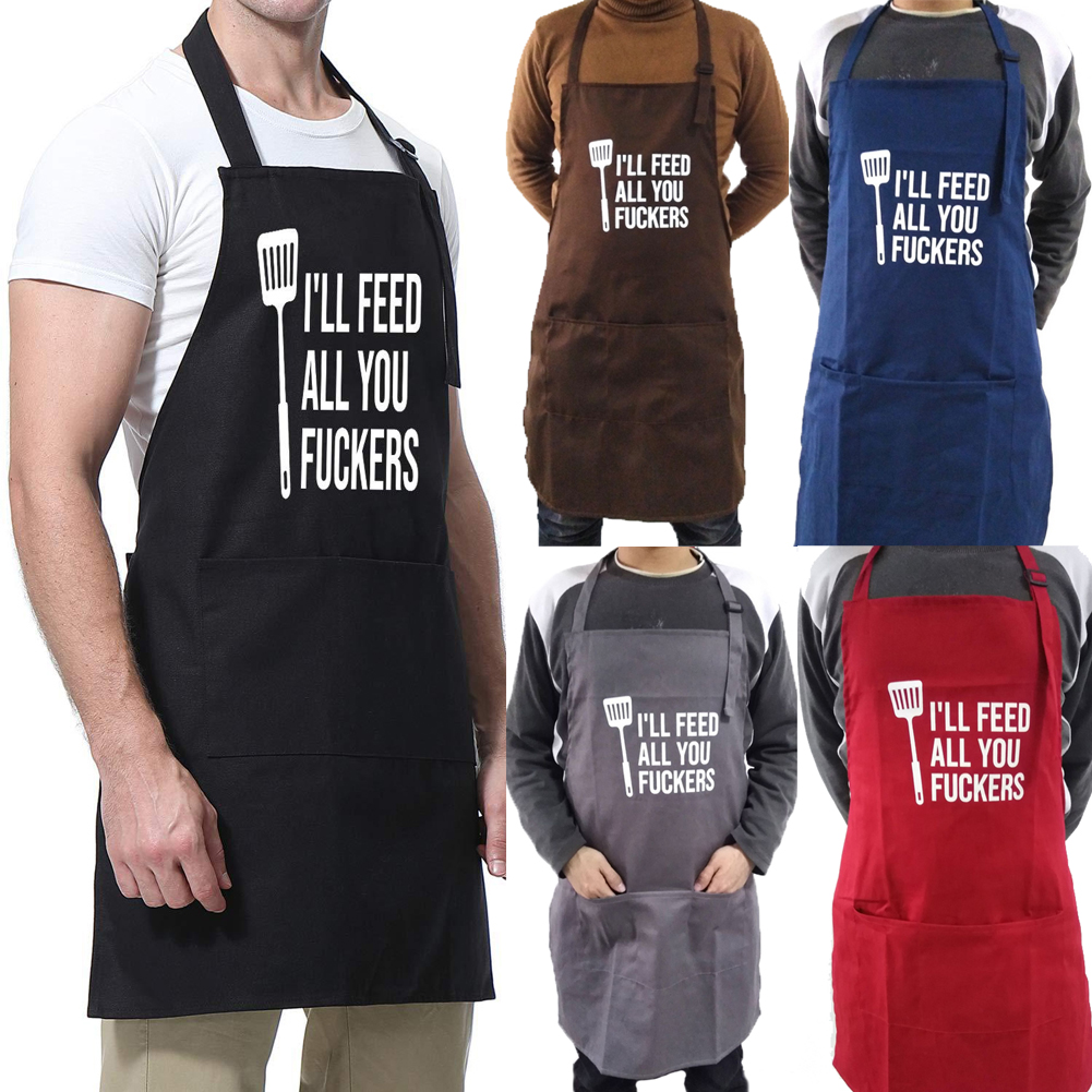 Women's Solid Color Cooking Kitchen Apron Men's Chef Waiter Cafe Shop Cheese Apron With Bib Cooking, Baking BBQ Chef Apron