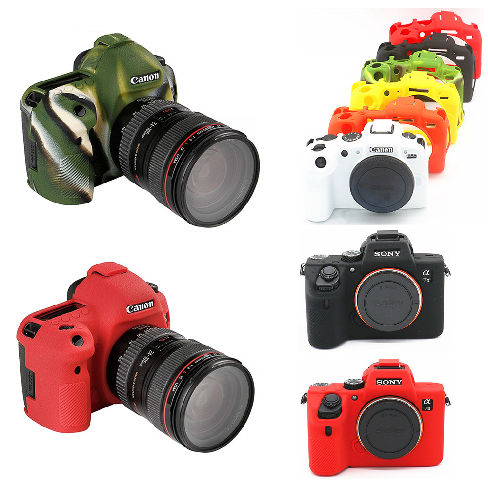 Silicone Camera Case Body-Cover Mark-Iii 750D 3000D 800D 250D Canon Eos for 90D RP 5D title=