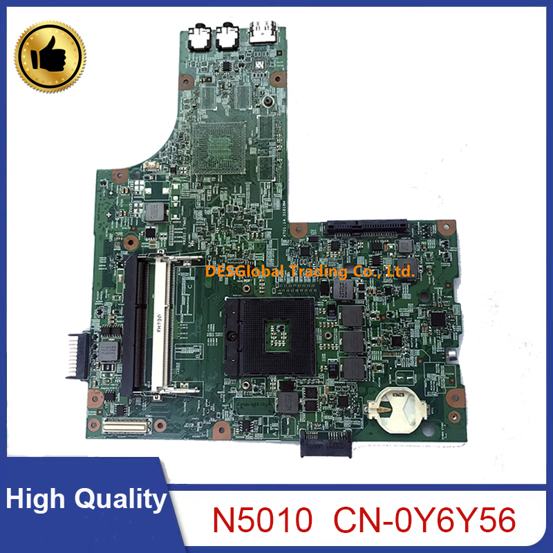 For <font><b>Dell</b></font> Insprion <font><b>N5010</b></font> Laptop <font><b>Motherboard</b></font> Y6Y56 0Y6Y56 CN-0Y6Y56 09909-1 DG15 48.4HH01.011 PGA989 Mainboard Working Perfectly image