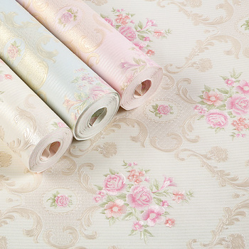 New Rural floral warm and romantic non-woven children's wallpaper European American bedroom living room TV background wall high quality american wallpaper 3d rural non woven european style wallpaper luxury retro tv background home living room bedroom