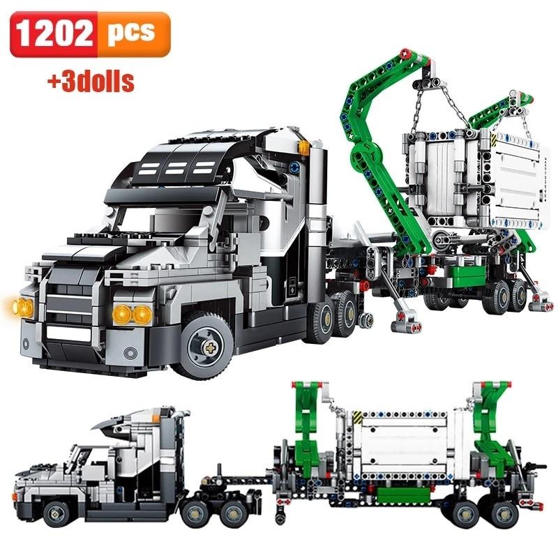 1202 шт., Детский конструктор «грузовик»