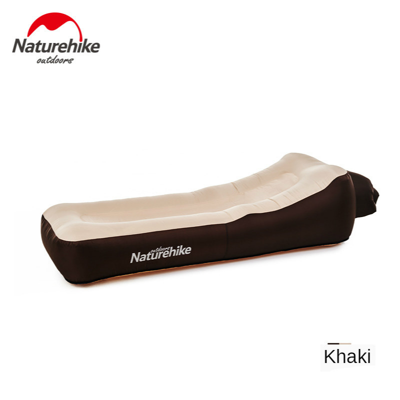 Naturehike Lazy Sofa Camping Mat Double Layer Thicken Portable Lazy Inflatable Air Cushion Inflatable Sofa Bed Beach Air Bed Mat