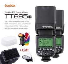 Godox TT685S Speedlite Flash Light GN60 1/8000s HSS TTL+ X1T-S Flash Transmitter (MI Shoe) for Sony A58 A7RII A7II A99 A7R neewer 2 4g wireless 1 8000s hss ttl master slave flash speedlite kit for sony a7 a7r a7s a7ii a7rii a7sii a6000 a6300 cameras