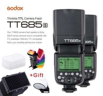 Godox TT685S Speedlite Flash Light GN60 1/8000s HSS TTL+ X1T-S Transmitter MI Shoe for Sony A58 A7RII III IV  A7II A99 A7R