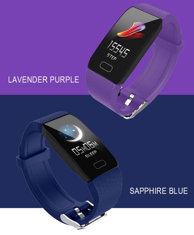 H29635bfa03ed4f909fda8b0492c25e5bT Fitness Bracelet Blood Pressure 1.14'' Screen Fitness Tracker Smart Watch Waterproof Smart Wristband Weather Display Women Men