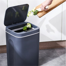 Automatic Induction Trash Can Smart Sensor Electric Waste Bin for Kitchen Bathroom Rubbish Bucket with Lid Home Sanitary Dustbin