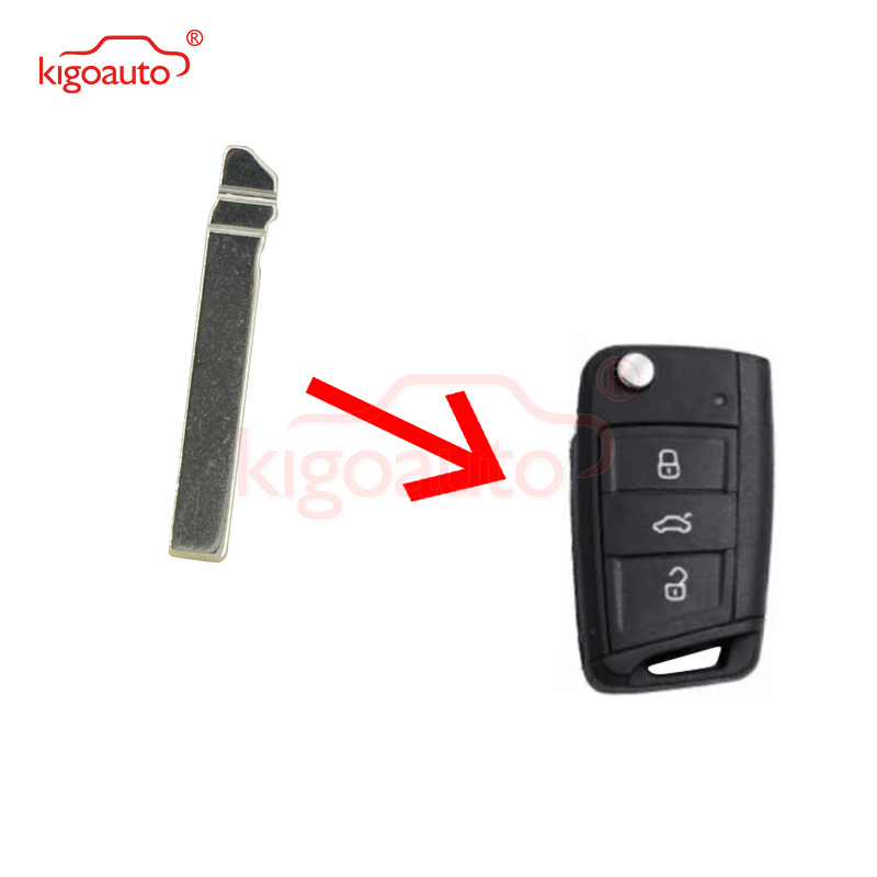 KIGOAUTO 5pcs Car <font><b>key</b></font> Blank Replacement Flip Floding <font><b>Remote</b></font> <font><b>Key</b></font> Blade HU162T For VW <font><b>Golf</b></font> <font><b>7</b></font> image