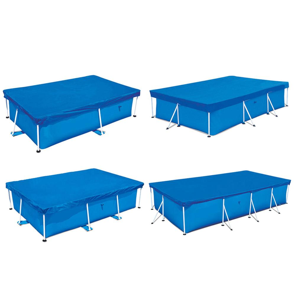400*211CM/300*200CM/260*160CM/220*150CM Cover Cloth Mat Cover Frame Pool For Garden Swimming Pool Cover Rainproof Dust Cover