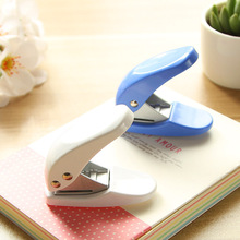 Mini Paper Punch White Blue Color 6mm Hole Punches for Album Book Journal Binding Stationery Office Biner School Supplies F749