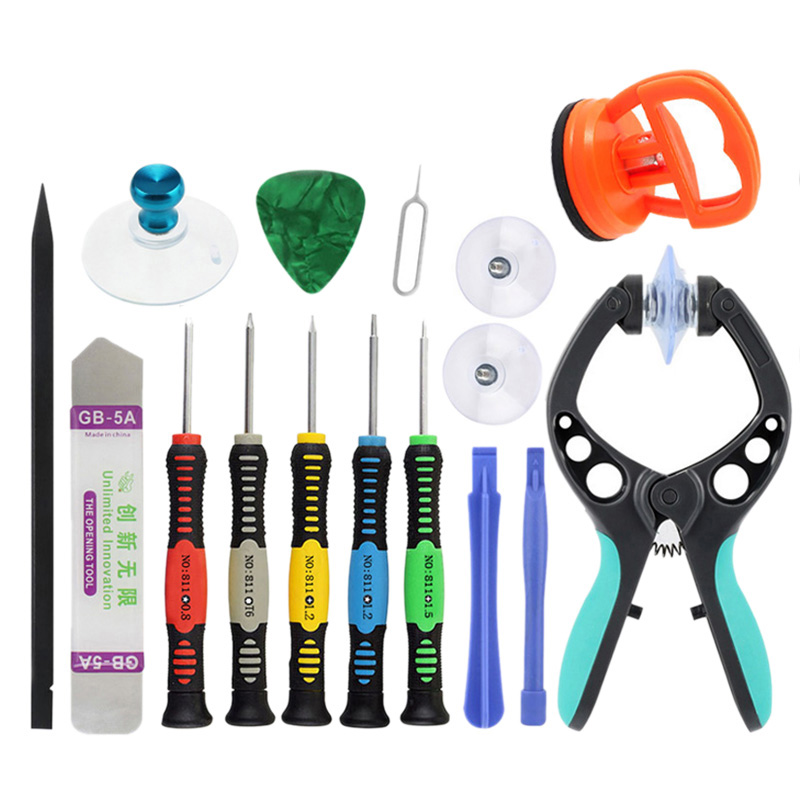 14 <font><b>In</b></font> <font><b>1</b></font> Professional Mobile Phone Repair Tools Open Pliers Suction Cup <font><b>Screwdrivers</b></font> For Phones For Samsung S6 Edge S7 Edge image