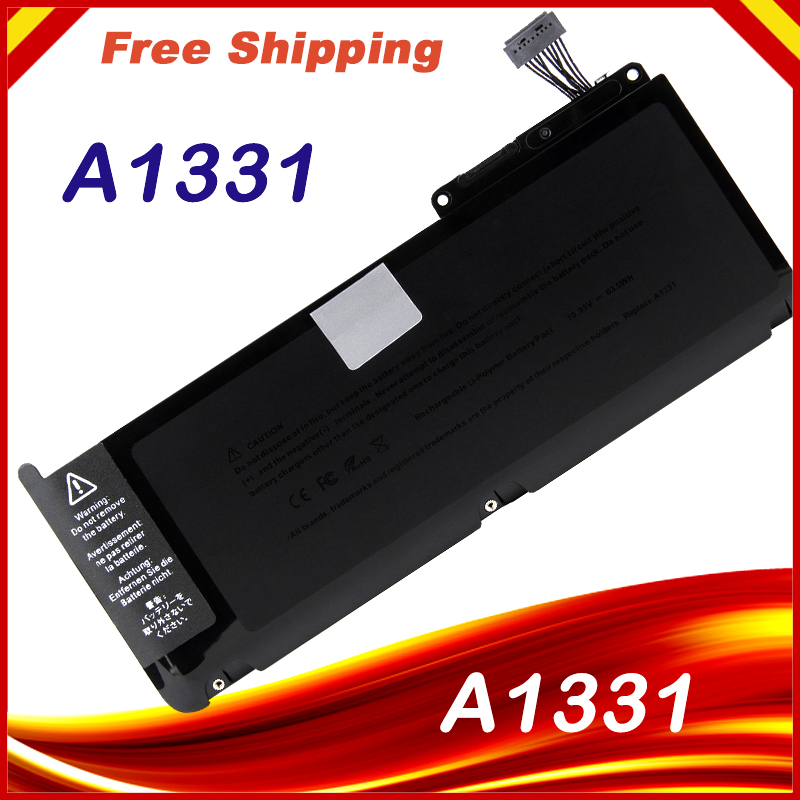 New Laptop Battery For Apple Macbook Unibody 13 A1342  A1331 63.5Wh Free shipping