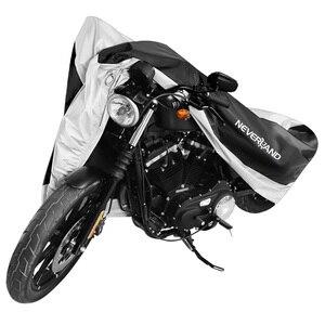 Image 2 - Silver Black 190T Dust UV Protector Sun Snow Rain Proof Waterproof Motorcycle Covers Cover Coat M L XL XXL XXXL D45