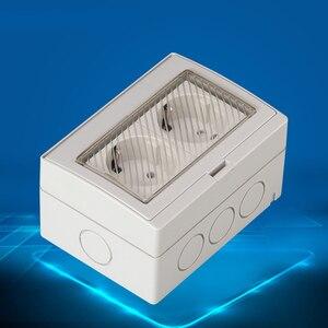 Image 5 - 壁ソケットeuデュアル電源アウトレット屋外電気schukoプラグpc外装防水パネルac 110〜250v 16A外バルコニー