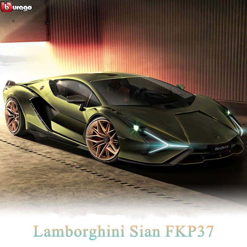 Bburago 1:18 Lamborghini Sian FKP37  Alloy Retro Car Model Classic Car Model Car Decoration Collection Gift