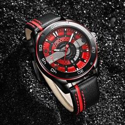 Oryginalne męskie zegarki nowy luksusowy sportowy zegarek KADEMAN 803 Series wojskowy zegarek kwarcowy na nadgarstek Casual Leather Man zegar czas Relogio w Zegarki kwarcowe od Zegarki na