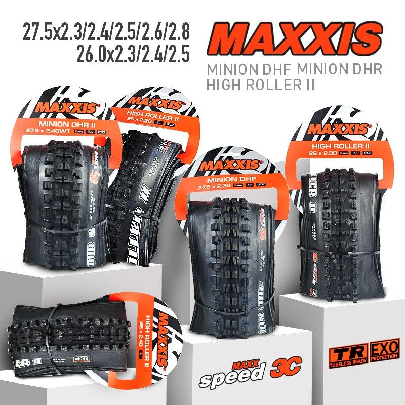 Maxxis pneu de bicicleta minion dif dhr, pneu tr 26 27.5, pneu dobrável, 26*2.3, 26*2.4, 27.5 pneus de bicicleta de montanha * 2.4/2.5/2.6