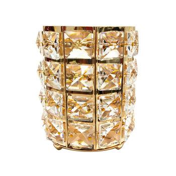 2020 nowy brokat metalowy kryształowy makijaż szczotka kosz w kształcie wiadra do przechowywania złoty srebrny kobiety pudełko do przechowywania kosmetyków obsadka do pióra wazon grzebień pojemnik tanie i dobre opinie STAINLESS STEEL