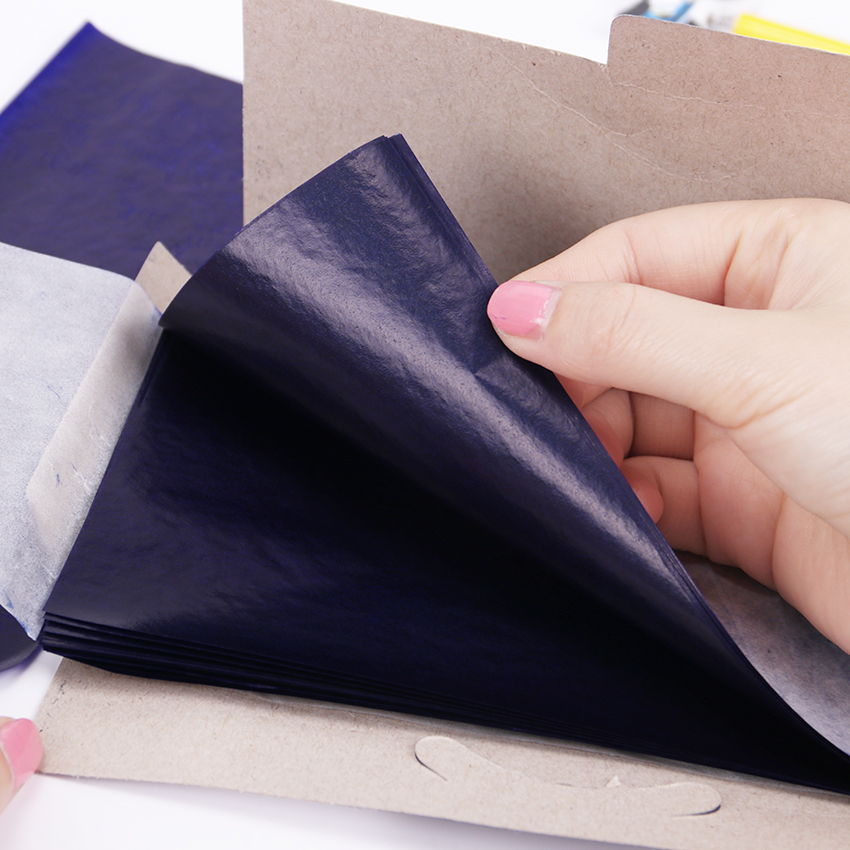 Carbon Paper 48K Double Sided Blue Finance Carbon Paper School Office Stationery 50 Pieces/lot