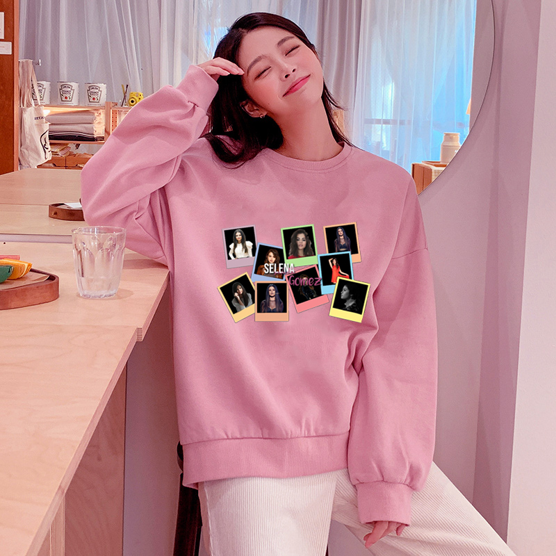 2019 New Arrival Selena Gomez Harajuku Hoodie Women Casual Autumn Clothes Plus Size Femme Sweatshirts Pink Pullover Clothing