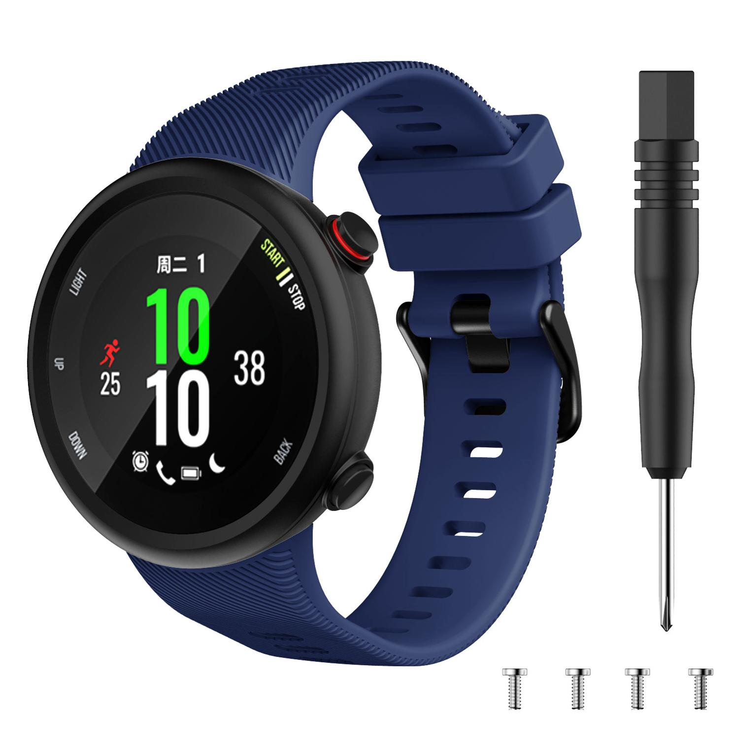 New Replacement Watch Strap Band For Garmin Forerunner 45 45S Soft Sport Silicone Smart Watches Bands Wristbands Bracelet +tool