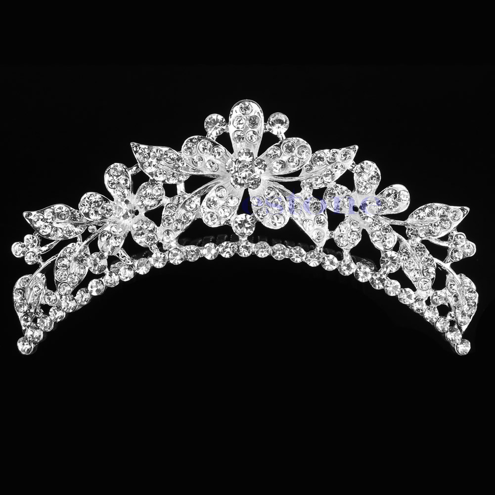 Princess Wedding Bridal Rhinestone Crystal Crown Hair Band Tiara 2019Hot