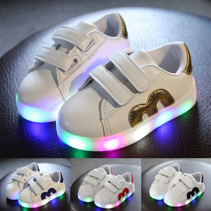Children's Led Sneakers Girls Glowing Kids Shoes For Girls Luminous Girls Sneakers Baby Kid Shoes With Backlight Sole