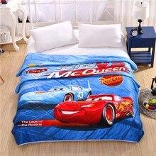 Disney Cartoon Marie Cat Mc Queen Cars Summer Quilt 150x200CM Air Condition Blanket Comforter Bed Covers Children Gift Sleeping