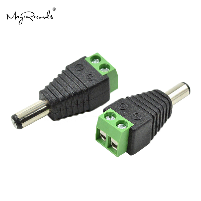 Free Shipping 10 PCs 5.5x 2.1mm DC Power Male Jack Plug Adapter Connector For CCTV Camera Power Adaptor