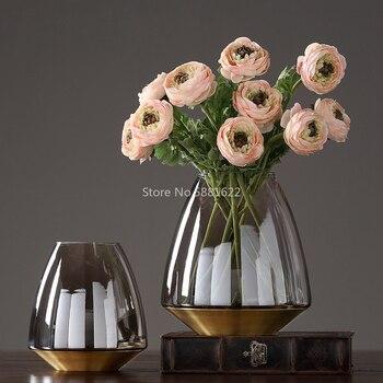 Moderno florero de vidrio nórdico hogar Decoración de mesa florero de vidrio jarrones terrarios centros de mesa para bodas maceta