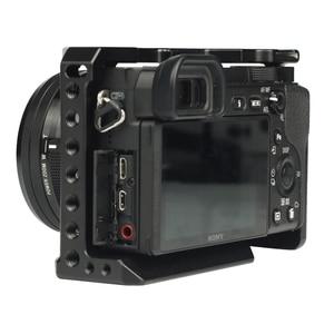 Image 2 - SETTO A6400 Camera Kooi voor Sony Alpha A6400 Camera Functie met 1/4 3/8 Schroefdraad Gaten voor Vlog DIY Video