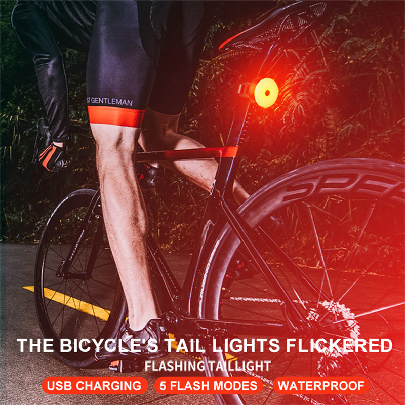 Bicycle Rear Lights Cycling Taillights LED Laser Safety Warning Waterproof Tail