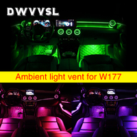 Car ambient lamp light for Benz A class W177 automotive Interior front rear vent lights 64 colors auto ambient atmosphere lamp