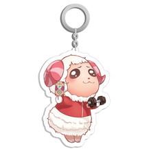 Animal Cosplay Crossing Dom/Daisy Mae Figure Acrylic Keychain Fashion Game Keyring Pendant Keyring Gifts Cosplay Props(China)