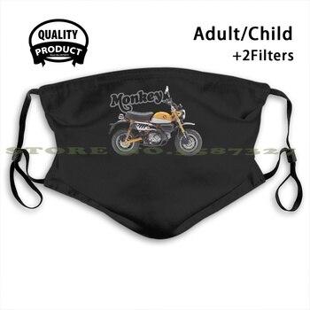 Honda Monkey 125 19 Banana Yellow, Sl Fashion diseño divertido negro máscaras reutilizables motocicletas Moto Rideordie Ridetolive Bike