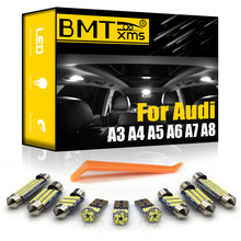 Bmtxms Voor Audi A3 8L 8V 8P A4 B5 B6 B7 B8 A5 A6 C5 C6 C7 A7 a8 D2 D3 Canbus Vehicle Led Interieur Kaart Dome Kofferbak Licht Kit