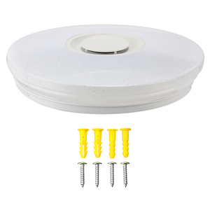 Image 4 - Altavoz inalámbrico LED con Bluetooth y Control remoto para dormitorio, lámpara de Panel de luz LED RGB de techo regulable con aplicación y mando a distancia