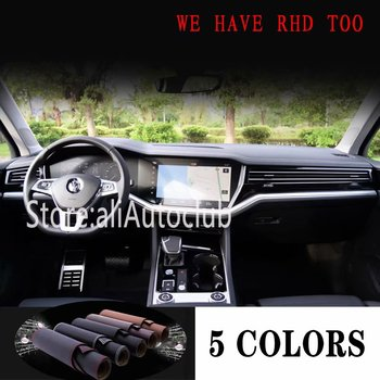 For Volkswagen vw Touareg 2019 2020 Leather Dashmat Car Styling Covers Dash Mat Dashboard Cover Carpet  Accessories