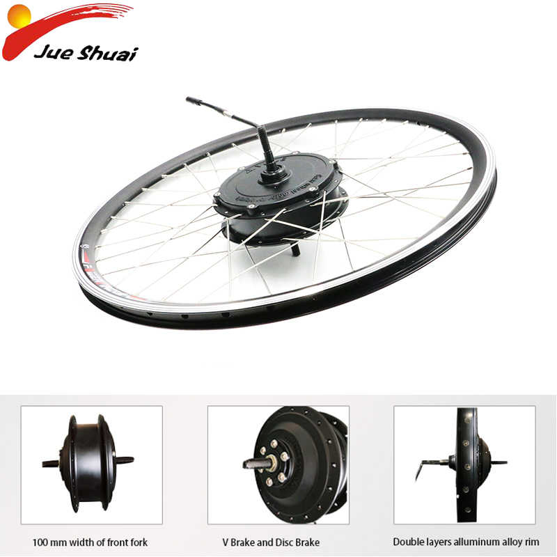 Electric Wheel Motor 36V/48V 250W/350W/500W Front Brushless Gear Hub Motor Bicycle Generator For Ebike With Lithium Battery Bike