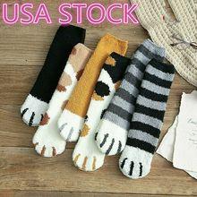 HIRIGIN/зимние милые толстые теплые носки-тапочки с когтями для сна; креативные носки из кораллового флиса с когтями