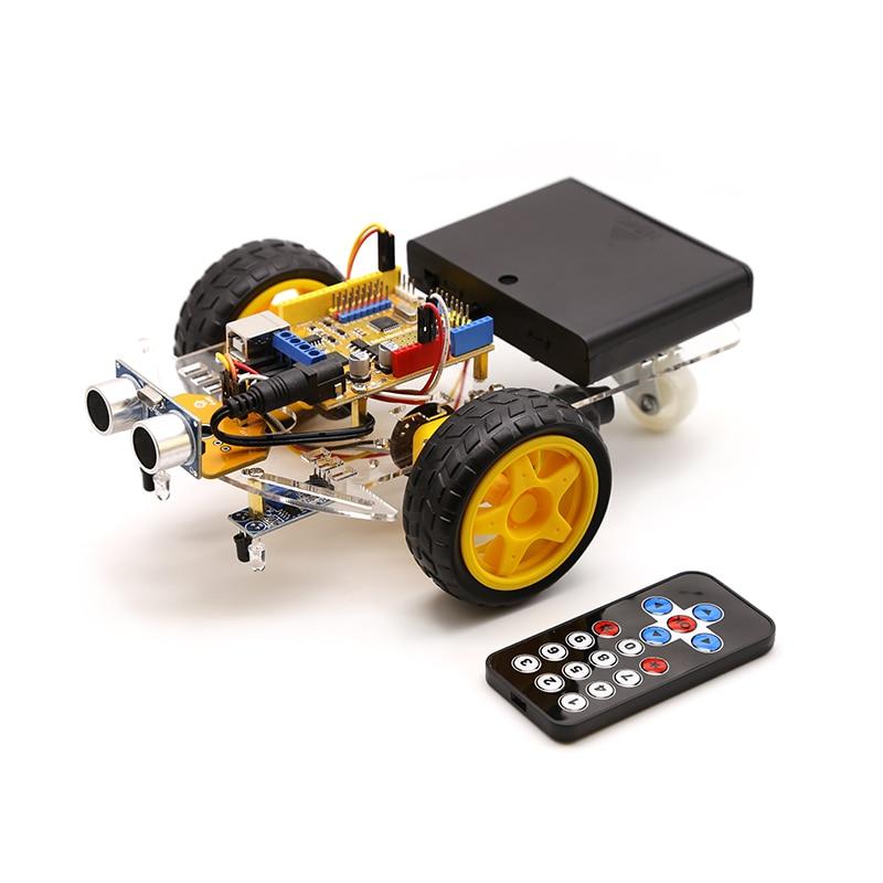 Умный Робот Мотор автомобильный комплект избегания слежения 2WD, ультразвуковой, ИК пульт, для Arduino Diy Kit, робототехника обучения|Образовательное оборудование|   | АлиЭкспресс