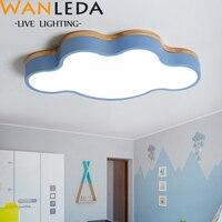 2019 luzes de teto led macaron cor para sala criança sala estar forma nuvem com controle remoto lâmpada do teto luminárias