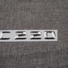 Chrome 3D Letters FOR C 220 Trunk Emblems Badges for Mercedes Benz W204 W205 C220